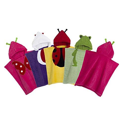 Kids Animal Embroidery Hooded Beach Towel Bathrobe Pajamas Cloak Cape
