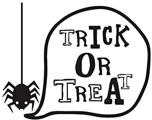 Profit Decal Sticker,Trick Or Treat Happy Halloween Cute Spider Window Decoration for Kids Room Art Background Poster Home Decoration Wall Decals Decor Vinyl Sticker Q12904