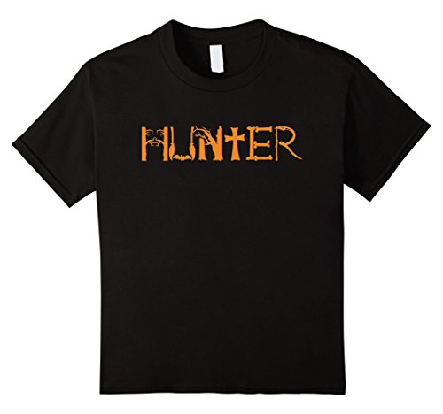 Kids Halloween Hunter Funny T-shirt Hospital Hunting Costume 4 Black (Witch Hunter Costume For Girls)