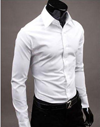 Slim fit SaySure - Mens única escote elegante vestido camisas ...