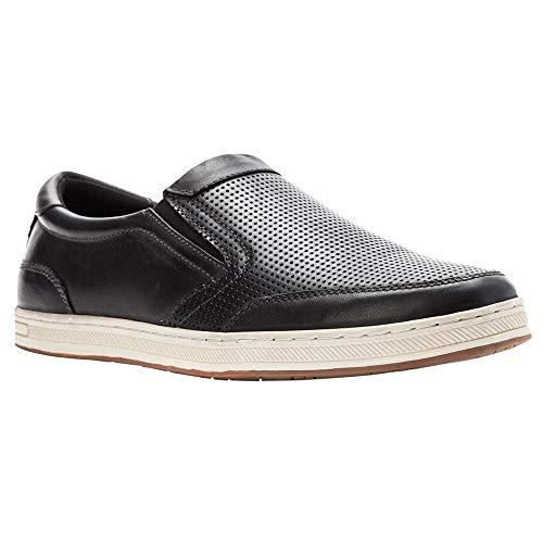 Propét Propet Mens Logan Nubuck, Nylon, Polyurethane, Rubber Slip On Sneakers