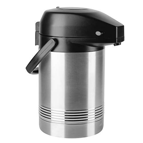 Emsa President Dispensador De Café, Acero Inoxidable, Plateado/Negro, 2 L, 1 Unidad