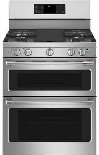 Ge Cafe CGB550P2MS1 30 Inch Gas Freestanding Range in Stainless Steel