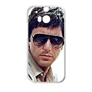 Al Pacino Scarface HTC One M8 Cell Phone Case White TPU Phone Case SV_213967