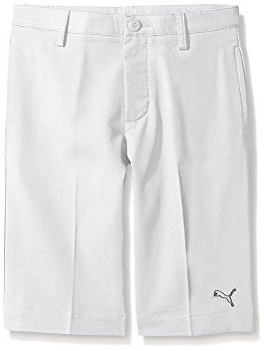 Puma Golf Boys' Tech Short (Big Kids), Bright White, Medium