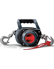 WARN 101575 Handheld Portable Drill Winch with 40 Foot Synthetic Rope: 750 lb Pulling Capacity