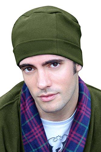 Mens Sleep Cap - 100% Cotton Night Cap for Men - Sleeping Hat Evergreen -