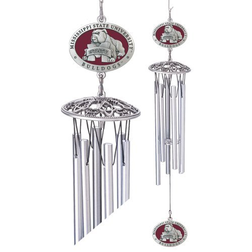 1pc, Pewter Mississippi State University Wind Chimes (Chimes Wind Mississippi)