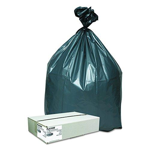 Hexene Resin (Webster PLA3350 Hexene Resin Platinum Plus Heavy Duty Waste Can Liner, 1.35 Mil, Flat Seal, 40