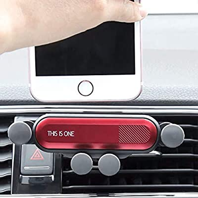 Car Phone Mount, Air Vent Phone Holder for Car,Shockproof, Stable, Non-Slip, Mobile Phone Holder Compatible with iPhone Xs/Xs Max/XR/X / 8/8 Plus /7/7 Plus Samsung Galaxy S10/S10+/S9/S9+ (Red)