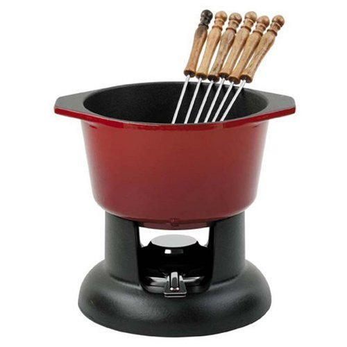 Chasseur Cast Iron Chilli Red Fondue Set by Chasseur