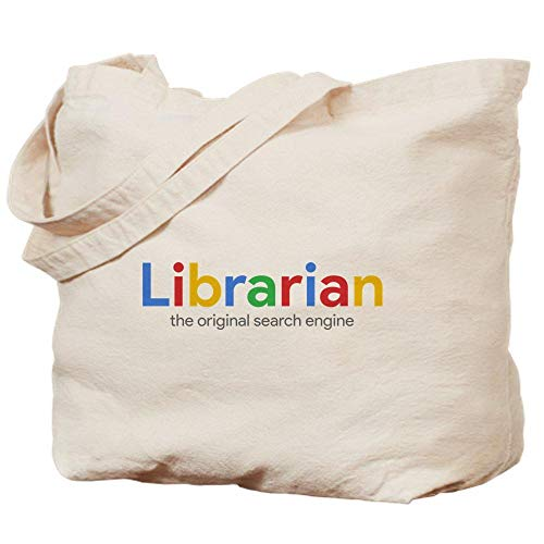 Canvas hand bag - Librarian The Original Search Engine - tote bag,shopping bag,beach bag - fashion bag - 14x16in