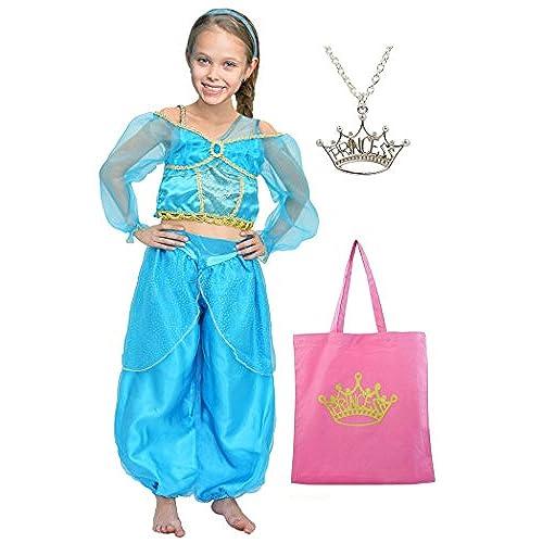 Little Pretends Bundle - Arabian princess dress-up set - 3 pieces (Medium (5-6yrs))  sc 1 st  Amazon.com & Jasmine Costume Kids: Amazon.com