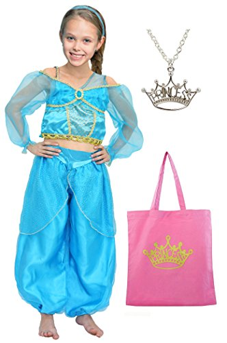 Little Pretends Bundle - Arabian princess dress-up set - 3 pieces (Large (7-8yrs)) (Make Believe Fancy Dress)