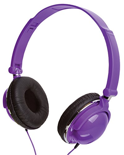 Kids Headphones Over The Ear Comfort Padded Foldable and Twistable Perfect for Music, Movies, Streaming, and Video Games. Smaller Size to Fit Most Kids Ears. (Purple)