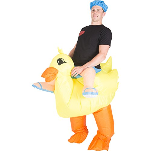 Bodysocks - Inflatable Ride Me Adult Carry On Animal Fancy Dress Costume (Duck) (Inflatable Halloween Costume)