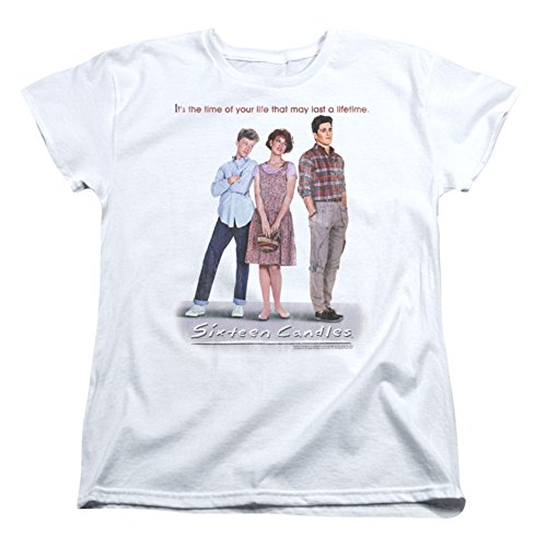 Sixteen Candles Poster Short Sleeve Womens Tee Shirt