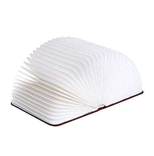GAOLIQIN Night Lights LED Flip Origami Book Lamp Creative Folding Imitation Wood USB Night Light Home Desk Lamp 2W(21.5162.5CM) White Light and Yellow Light by GAOLIQIN