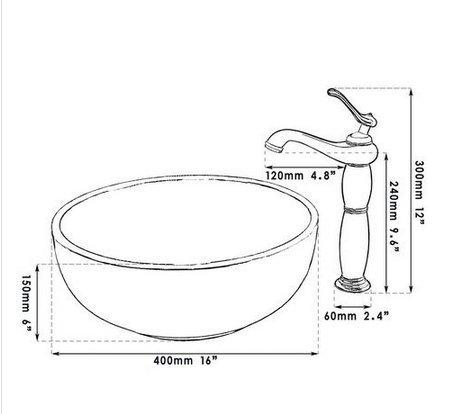 GOWE Antique Sliver Basin Tap+Bathroom Sink Washbasin Ceramice Lavatory Bath Sink Combine Set Torneira Tap Mixer Faucet 2