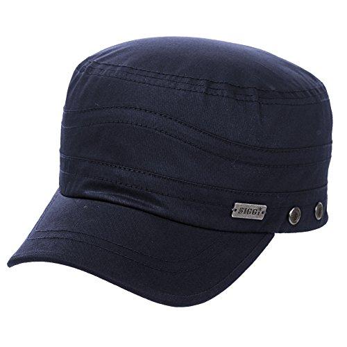 Fancet Mens Cotton Army Baseball Cap Military Size 8 Hat Women Large Head Cadet Jersey Navy XXL