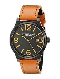Stuhrling Original Men's Osprey Swiss Quartz Date Beige Watch 454.3355K1
