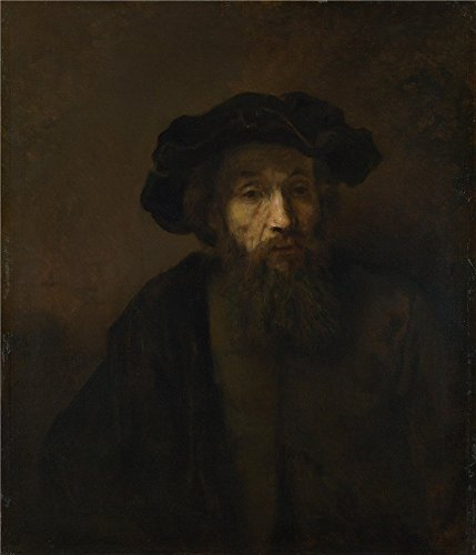 Oil Painting 'Rembrandt A Bearded Man In A Cap ' Printing On