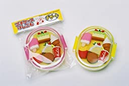 Desserts Japanese Eraser Set. 7 Assorted Erasers in Oval Case. By PencilThings