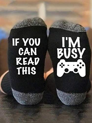 Funny Socks for Women Men, Unisex Novelty Letter Print Mid Length Soft Socks