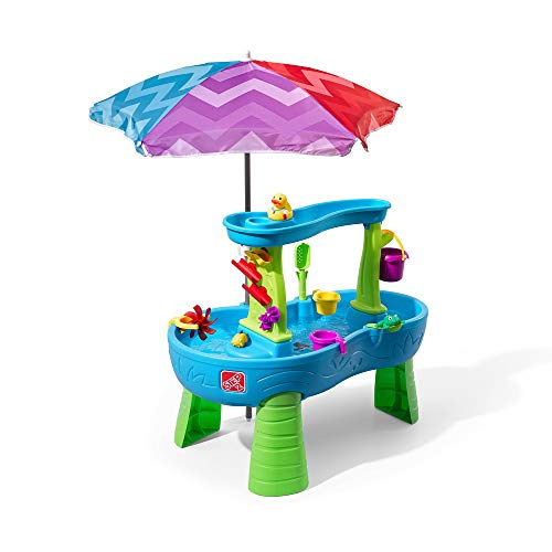 Step2 Rain Showers Splash Pond Water Table | Kids Water Play Table with 13-Pc Accessory Set -