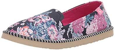 Joules Women's Flipadrille Flat Sandal Dark Blue Floral 5 Medium US