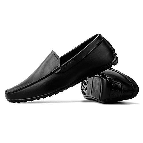 3 Dimensione mocassini indossare 41 per Ofgcfbvxd Black 3 EU Fitting Leggero Mocassini Wider Black casual Slip uomo On i con Color Scarpe pelle vera in da 1nPRqnw8x