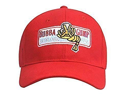 Bubba Gump Hat Shrimp Co. Embroidered Forrest Gump Baseball Cap Red Adjustable -