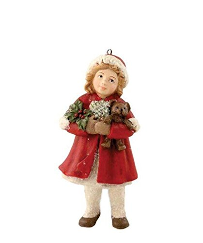 Bethany Lowe A Child's Christmas Merry-Ann Girl Teddy Bear Ornament