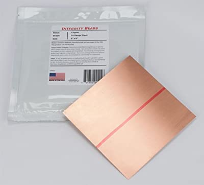 "Copper 24 Gauge Sheet - 6"" x 6"""