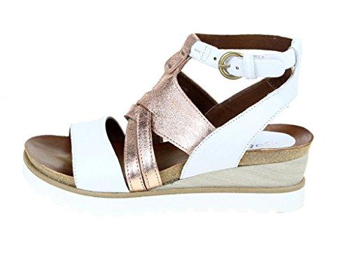 Skechers S221001-3 3 - Sandalias de vestir de cuero repujado para mujer Weiß