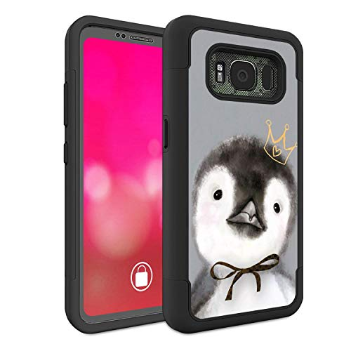 Galaxy S8 Active Case (Do Not Fit S8), Rossy Heavy Duty Hybrid TPU Plastic Dual Layer Armor Defender Protection Case Cover for Samsung Galaxy S8 Active,Cute Animal Penguin
