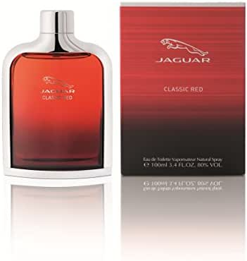 Jaguar Classic Red Eau de Toilette Spray for Men, 3.4 Fl Oz