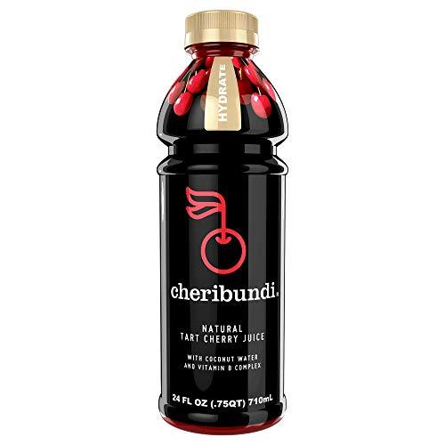 Cheribundi HYDRATE- 40 Tart Cherries Per 8oz. Serving (Pack of 8), 100% Pure Tart Cherry Juice with Coconut Water and Vitamin B Complex, Reduce Soreness, Recover Faster, Boost Immunity, Improve Sleep