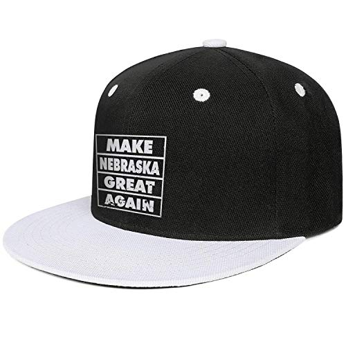 QILI Make Nebraska Great Again Unisex Funny Snapback Flatbrim Hats Adjustable Sun Protection Sun Hat