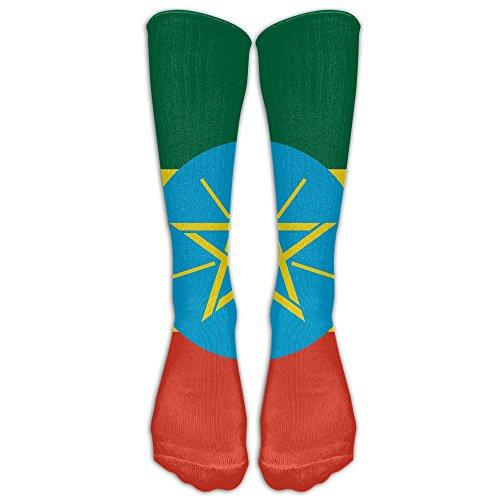 - FUNINDIY Ethiopia Flag Compression Socks Soccer Socks High Socks Long Socks For Running,Medical,Athletic,Edema,Diabetic,Varicose Veins,Travel,Pregnancy,Shin Splints,Nursing.