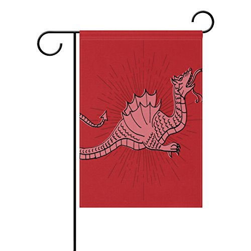 """LEISISI Dinosaur Line Drawing Garden flag 12""""X18"""" Two Sided"""