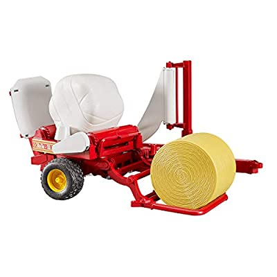 Bruder Bale Wrapper with Yellow and White Bales (Color May Vary): Toys & Games