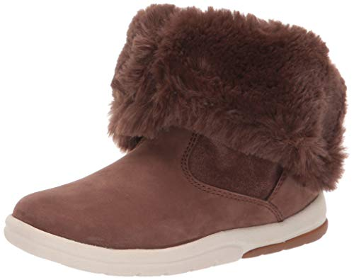 Timberland Baby Toddle Tracks Faux Shearling Bootie Fashion Boot, Dark Brown Nubuck, 10 Medium US Toddler
