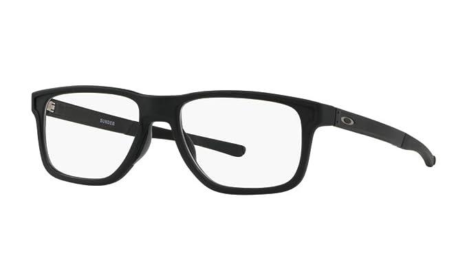 cb41492c2dcd8 Amazon.com  Oakley RX - Sunder (53mm) - Satin Black Frame Only  Clothing