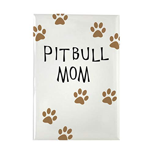 CafePress Pitbull Mom Magnets Rectangle Magnet, 2