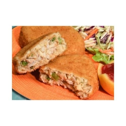 New Wave Kaptains Ketch Breaded Deviled Crab Cake, 3 Ounce - 32 per case.