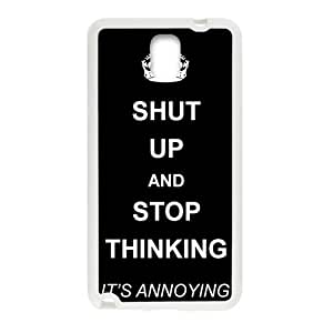 Shut up and stop thinking keep calm and pin Phone Case for Samsung Galaxy Note3 Case