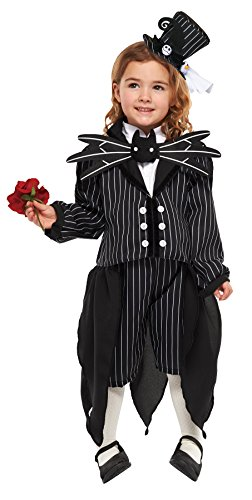Nightmare Before Christmas Costume - Jack Skellington Costume - Girl's S -