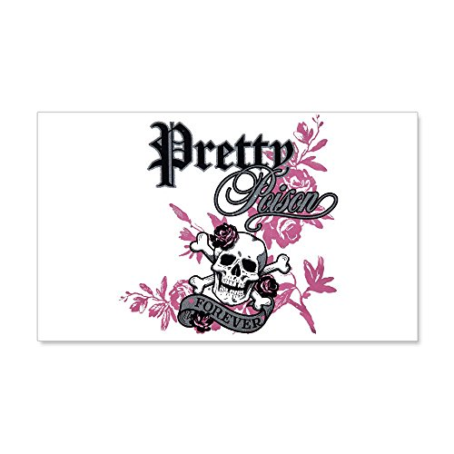 35 x 21 Wall Vinyl Sticker Pretty Poison Forever Flowers -