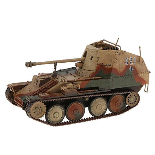 MagiDeal 1/32 Scale Diecast Tank WWII Germany MARDER III MSD.KFZ 139 Tank Model Toys